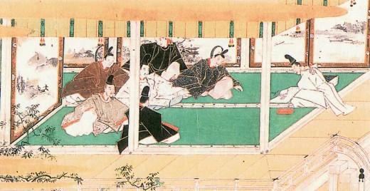 算木で占いを行う陰陽師の画ー江戸時代初期の奈良絵本『たまものまへ』 京都大学附属図書館所蔵ー