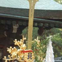 ずいき祭に 秋の剣鉾
