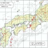 東日本大震災 西日本震央分布図2010/8