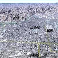 火祭 千日詣 京都盆地鳥瞰図