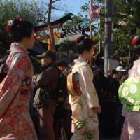 おことうさん 師走風景 祇園甲部 新橋 辰巳神社 巽橋