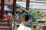葵祭 路頭の儀 : 「巻櫻冠(けんえいのかんむり)」 に 「おいかけ」