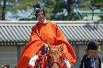 葵祭 路頭の儀 : 舞人(まいうど)は、歌舞の堪能な武官