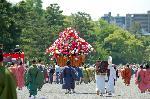 葵祭 路頭の儀 : 風流傘