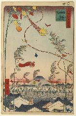 七夕 : 市中繁栄七夕祭(江戸百景/歌川広重)