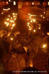 盂蘭盆会 万灯会 : 墓地の灯明