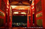 盂蘭盆会 千日詣り : 三重塔のライトアップと夜景