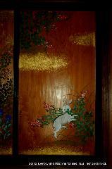 観月祭 : 萩と兔の戸板絵