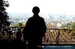 近江屋事件 : 東山霊山から市内を見下ろす銅像
