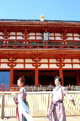 平城遷都1300年祭 : 貸し衣装のカップルも天平人となる