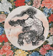 妖怪文化 : ビゲローコレクション「唐獅子図」