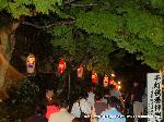愛宕古道街道灯し 千灯供養 : 千灯供養に並ぶ参拝者には番号札が配られる
