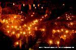 愛宕古道街道灯し 千灯供養 : 先祖供養の燈明が数千体のお地蔵さんにとぼされる