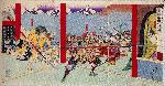 織田信長 安土城 本能寺の変 : 錦絵 本能寺焼討之図