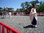 葵祭 路頭の儀 : 御所を出発する行列の先頭である