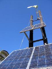 更衣 しつらえ替え : 風車と太陽光のハイブリッド発電装置
