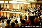 祇園祭 くじ取り式 : 階下が議場 階上は傍聴席