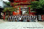 祇園祭 くじ取り式 山鉾連合会社参 : まず記念撮影 そして・・・