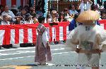 祇園祭 くじ取り式 : 巡行日 くじ改めに向かう
