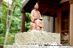 初詣 狛犬 狛龍 パワースポット : かぐや姫ゆかりの大伴家持像