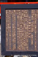初詣 干支 龍 辰 駒札 : 「銭を洗い、浄財袋に入れて持ち歩くこと」が記されている