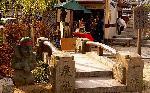 晴明祭 安倍晴明 : 神社境内の戻り橋と公認グッズ販売所桔梗庵