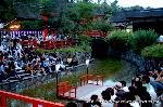 蛍狩り : 糺の森に蛍が飛び交う初夏の夕暮れ「蛍火の茶会」が開催される。 同日糺の森納涼市も開催されている。  http://blog.livedoor.jp/kyoto_cf/archives/1485213.html
