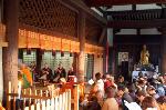 千本釈迦念仏 彼岸会 : 遺教経会の声明が響く