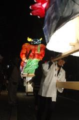 粟田神社大祭 粟田大燈呂 夜渡り神事 : 牛頭天王/復活した粟田口の風流