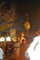 粟田神社大祭 粟田大燈呂 夜渡り神事 : 貴賎群集することおびただし。誠に一大壮観なり。