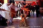 御火焚祭  : 本殿の儀で執り行われるお火焚き。