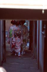 おことうさん 師走風景 : 京舞井上流家元宅に向かう路地
