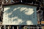 観梅 軒端梅 駒札 : 雲水山東北院縁起の駒札