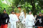 葵祭 御蔭祭 : 東游が終われば、切芝より列を整え本殿へ