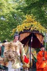 春祭 葵祭 : 本列最後尾の風流傘