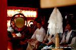 祇園祭 神宝奉持列 : 神人のルーツといわれる由縁か、宮本組が着座