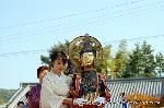 二十五菩薩お練り供養 : 獅子が吼えるように悟りについて説法する菩薩で横連笛(おうれんてき)を持つ