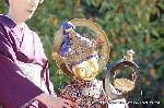 二十五菩薩お練り供養 : 大威徳王菩薩は瓔珞(ようらく/珠のついた網状の飾り物)