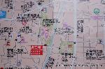 文化遺産 お土居 : この地図は下が北になっている
