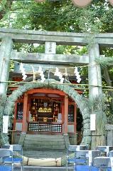 夏越祭 祇園祭 : 疫神社の茅の輪