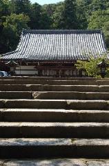 重陽の節句 : 石段を上ると本堂