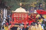 還幸祭 ずいき祭 : 「第一鳳輦(ほうれん)」「葱華輦(そうかれん)」「第二鳳輦」
