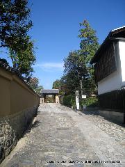 紅葉 秋の特別公開 : 本坊の塀沿い