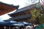 終い弘法  弘法さん 御影供 : 二層の屋根で金堂とわかる